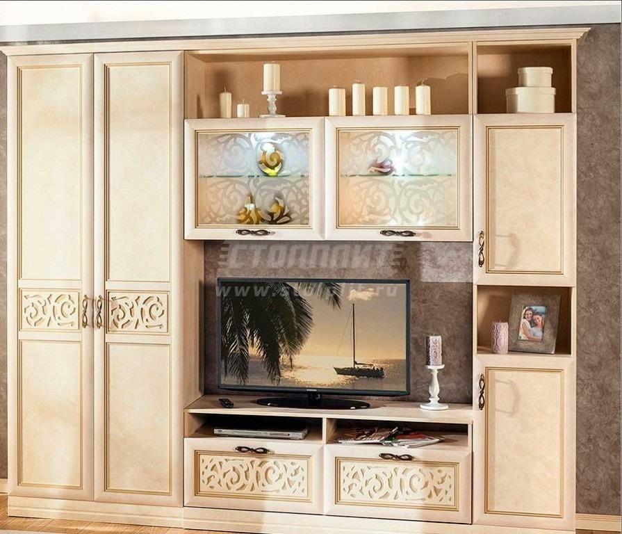 Мебель для гостиных александрия 2650 (кожа ленто) купить за .
